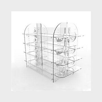 Plexiglass Gondola display stand