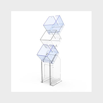 Plexiglass display stand Fly Box Cube3