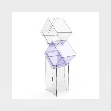 Plexiglass display stand Fly Box