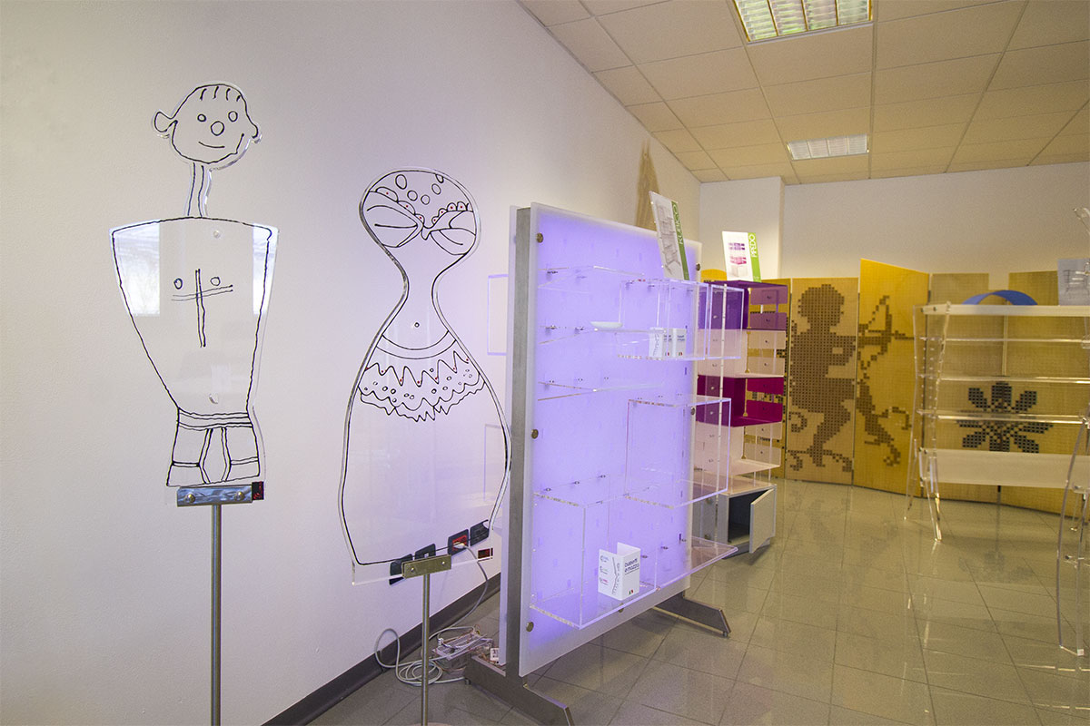 Lo showroom espositori Bussetti e Mazza